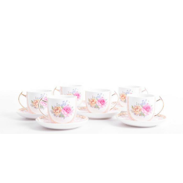 harga Teacup capodimonte (6 cangkir + 6 tatakan) Tokopedia.com