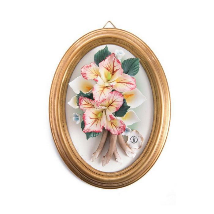 harga Lukisan dinding 3 dimensi capodimonte tinggi 20.5 cm pink flower Tokopedia.com