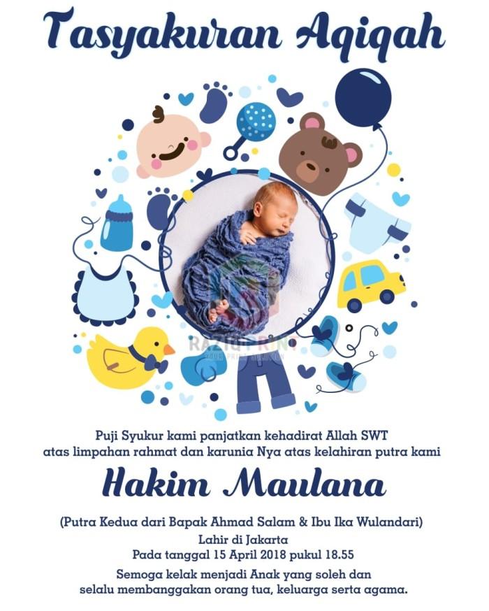 Template Kartu Ucapan Kelahiran Anak