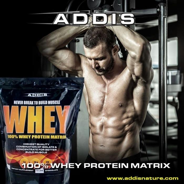 Foto Produk ADDIS Nature Whey Protein Matrix 10 lb 10lb New Package Original dari LASOM store