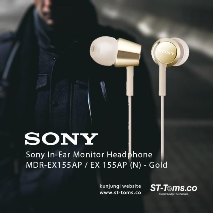 harga Sony in-ear monitor headphone mdr-ex155ap / ex 155ap (n) - gold Tokopedia.com