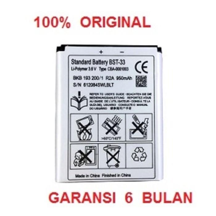 harga 100% original sony ericsson battery bst-33 / k800i w550i k530i k550 Tokopedia.com