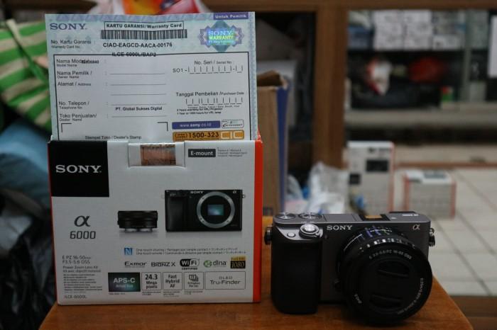harga Sony a6000l 16-50mm warna grey garansi resmi Tokopedia.com