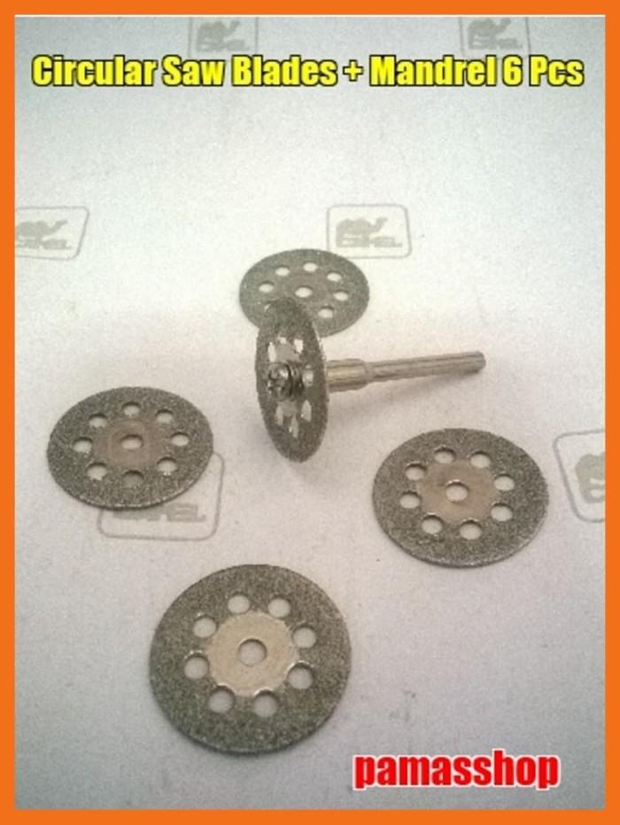 harga Mini drill accessories circular saw blade 6 pcs Tokopedia.com