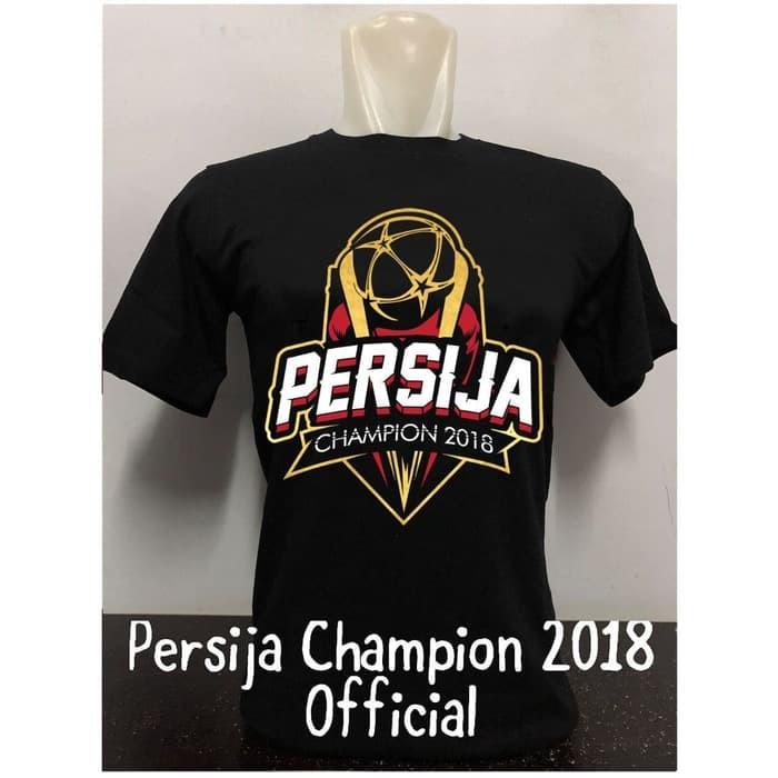 harga Kaos specs persija champions 2018 hitam Tokopedia.com