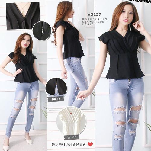 harga Ddc3157 - blouse bahan wedges crepe - ld 80-94 cm - panjang 54 cm - zi Tokopedia.com