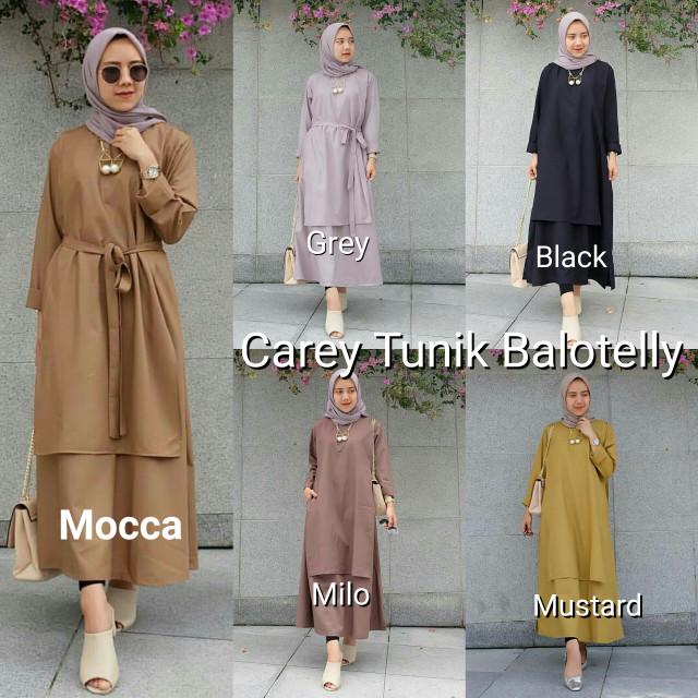harga Atasan muslim wanita / jual baju murah / pakaian hijaber : carey tunik Tokopedia.com