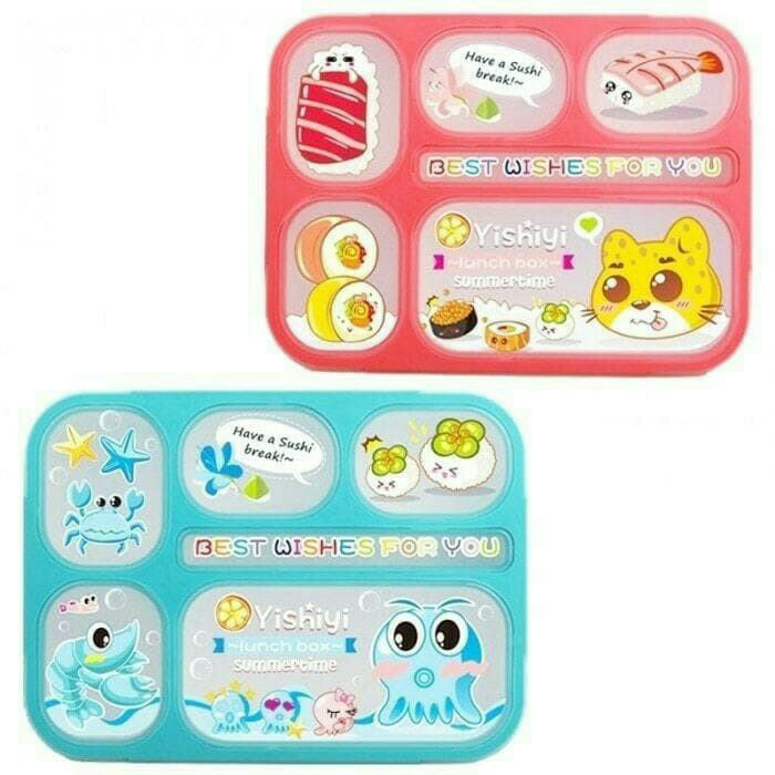 Yooyee kotak makan tepak makan lunch box anti tumpah 6 sekat