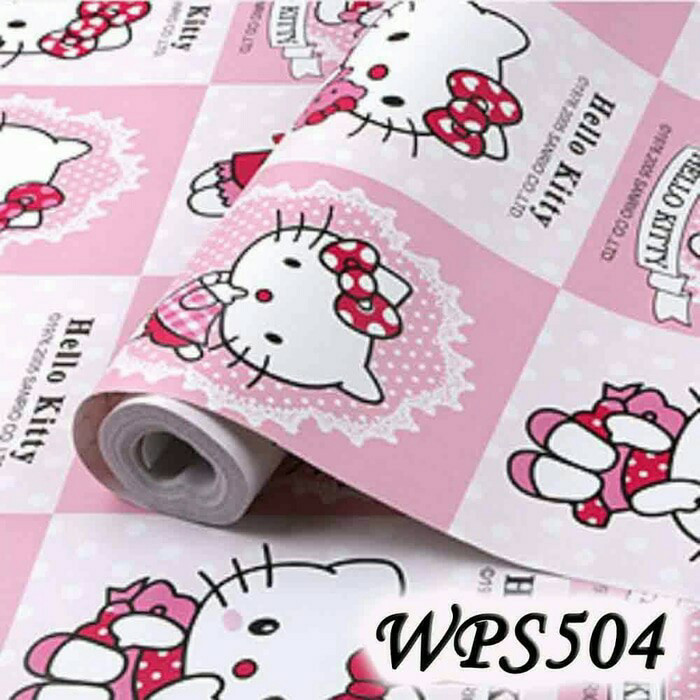jual wallpaper sticker hello kitty wallpaper wall paper sticker