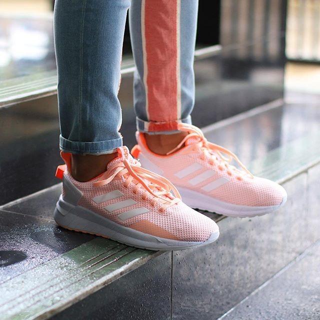 Jual Adidas Questar Ride Solar Peach Ftwr White Inesta Shoes