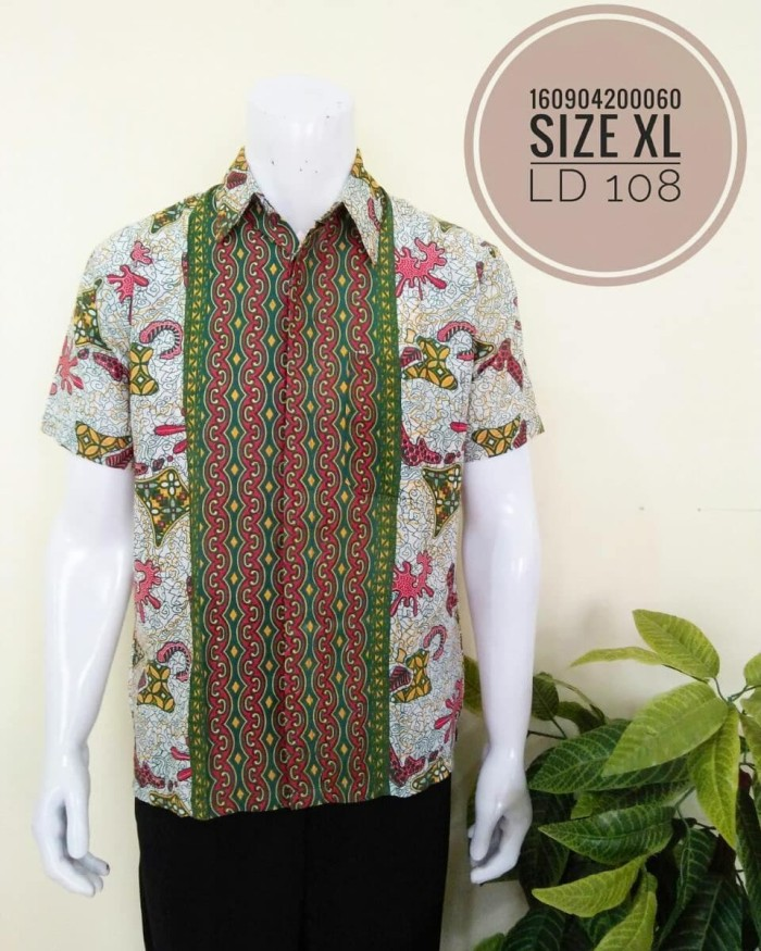 Jual INP31 Kemeja Hem Batik Seragam Katun Baju Pria Murah Modern ... 0171bfa51d