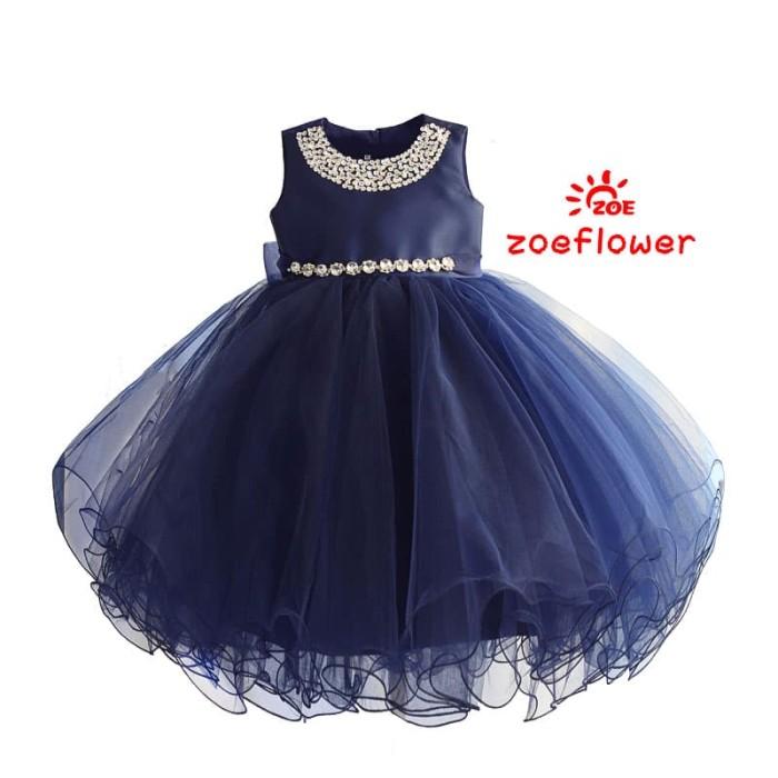 harga Dress anak perempuan : zoe flower lux navy dress Tokopedia.com