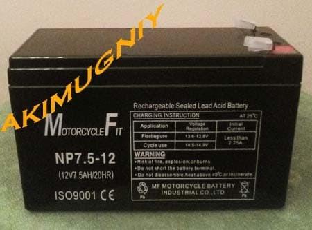 harga Aki baterai kering vrla mf 7.5ah 12v sepeda listrik ups gs yuasa Tokopedia.com