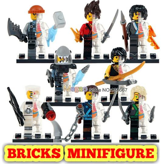 LEGO Building Toys Lot 24PCS NINJAGO MOVIE SERIES COMPLETE