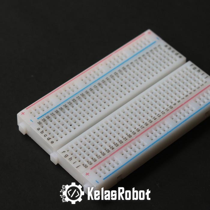 Foto Produk Breadboard 400 Lubang Untuk Percobaan Prototype Arduino Raspberry dari Kelas Robot
