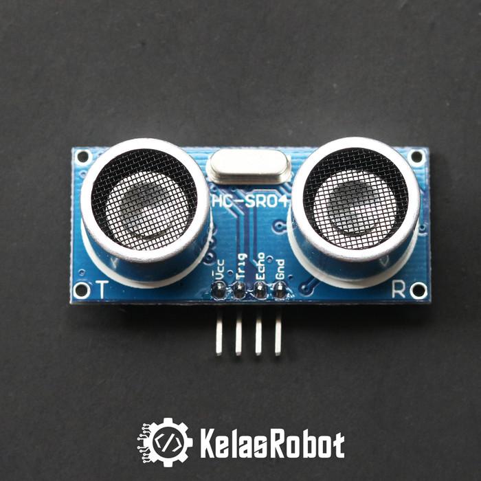 Foto Produk Sensor Jarak Ultrasonic HCSR04 HC-SR04 HC SR04 PING for Arduino dari Kelas Robot