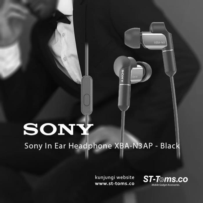 Jual Sony Xba-N1ap / Xba N1ap In Ear Headphone Hitam Harga Promo Terbaru