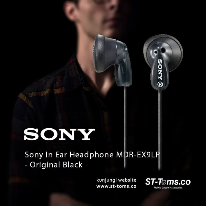 Sony in ear headphone mdr-ex9lp original sony 1 tahun garansi
