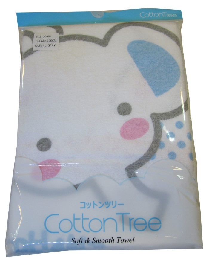 Cotton Tree Towel Animal Grey - Blanja.com