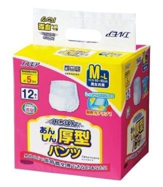 Ellemoi Anshin Astugata Pants Adult Diapers [M] 12 Pcs - Blanja.com