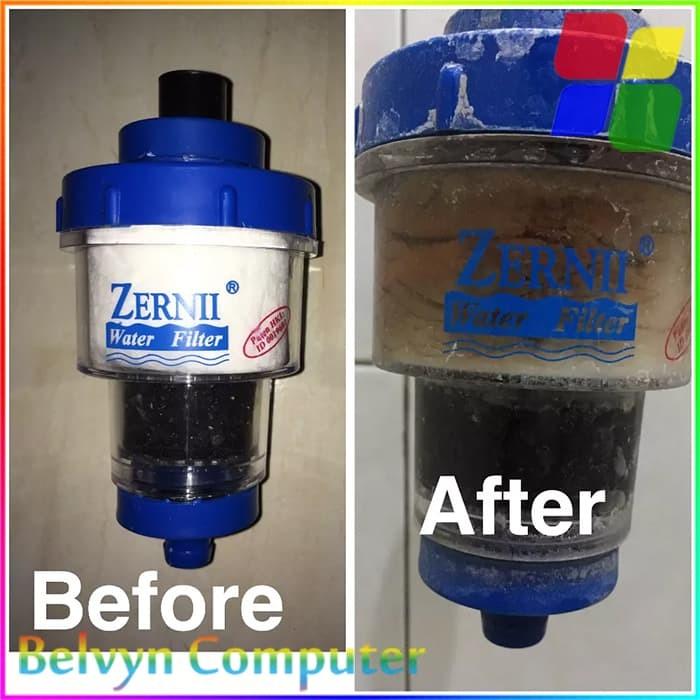 Paket ZERNII Water Filter Penjernih Air + Refill Karbon Aktif 4pcs .
