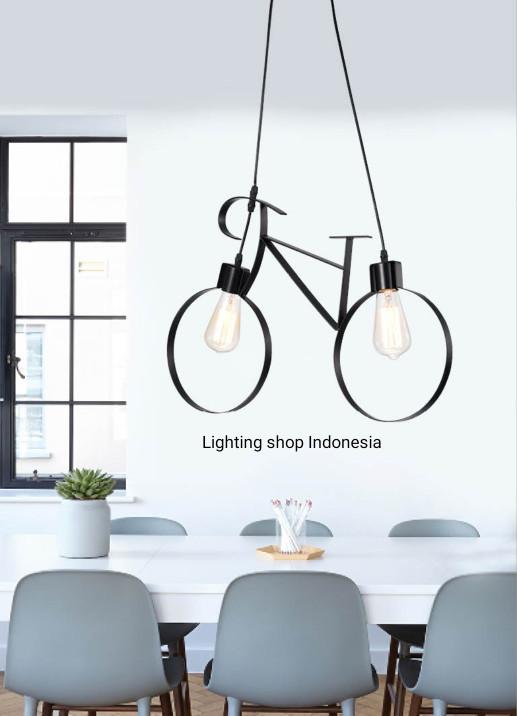 harga L753 lampu gantung sepeda dekorasi kamar hias classic Tokopedia.com