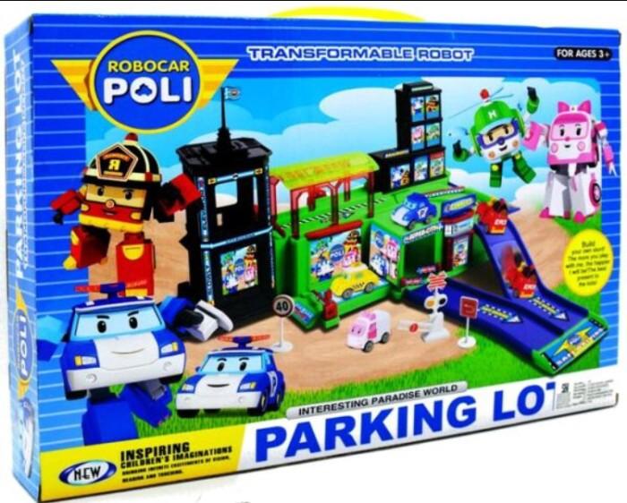 Mainan Anak Laki-Laki Robocar Poli Parking Lot 665C