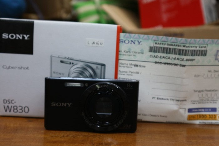 harga Sony dsc w830 garansi remi warna hitam Tokopedia.com