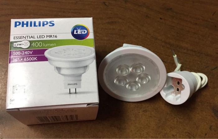 Lampu led mr 16 220v 4.5w philips