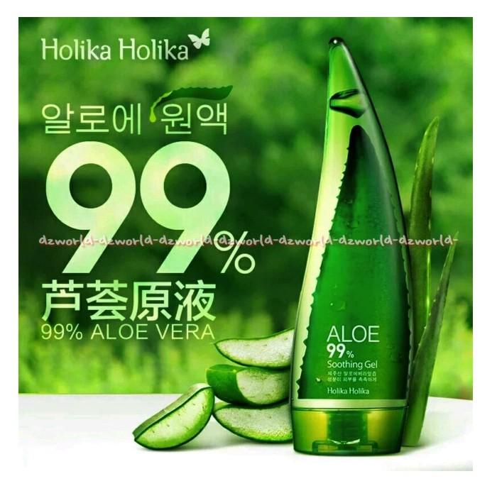 Holika 250 ml Gel lidah buaya yang mengandung vitamin C banyak manfaat