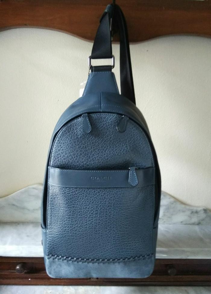 Jual tas coach pria polgan Charles pack denim biru - TOKO HALAL ... 3474d58387