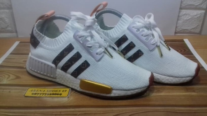 Jual Sepatu Adidas NMD R1 LV Louis Vuitton