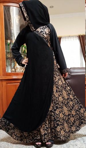 Jual Abaya / gamis hitam klok - Hitam, M - Kota Surabaya - Alf barokah  collection  Tokopedia