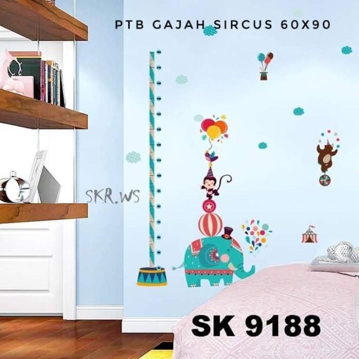 jual wall sticker 60x90 gajah sircus - sabrina wallstiker | tokopedia