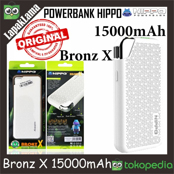 PowerBank Power Bank HIPPO Bronz X 15000mAh Original 100% Powerbank