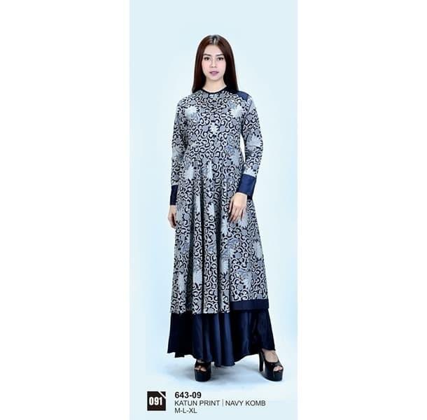 Long dress/atasan wanita Azzura 643-09 NAVY