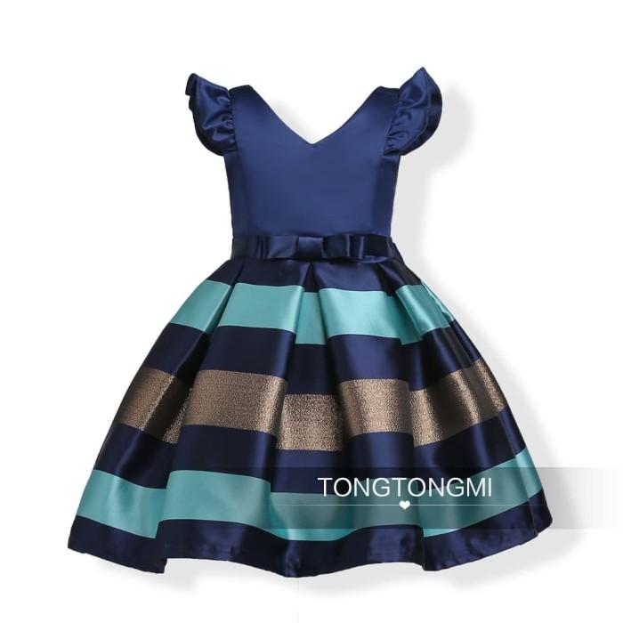 harga Dress anak perempuan : tongtongmi blue stripe dress Tokopedia.com