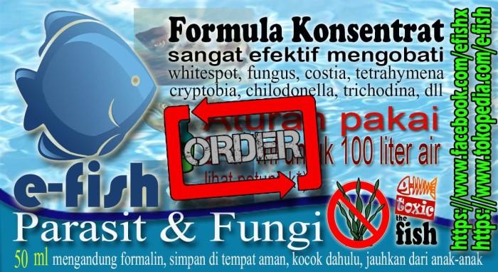 harga E-fish parasit dan fungi : obat ikan discus parasit velvet ich jamur Tokopedia.com