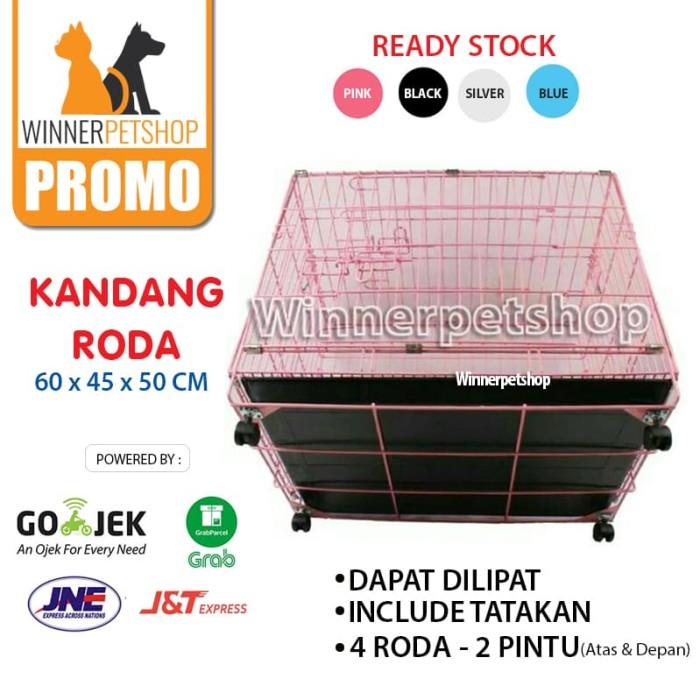 harga Kandang roda kucing / anjing / kandang lipat / kandang besi roda Tokopedia.com
