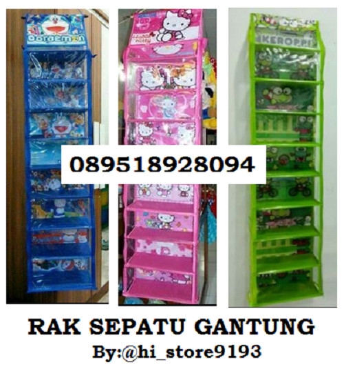 ... Hanging Shoes Organizer RAK SEPATU GANTUNG FULL SLETING 9 SUSUN HSO