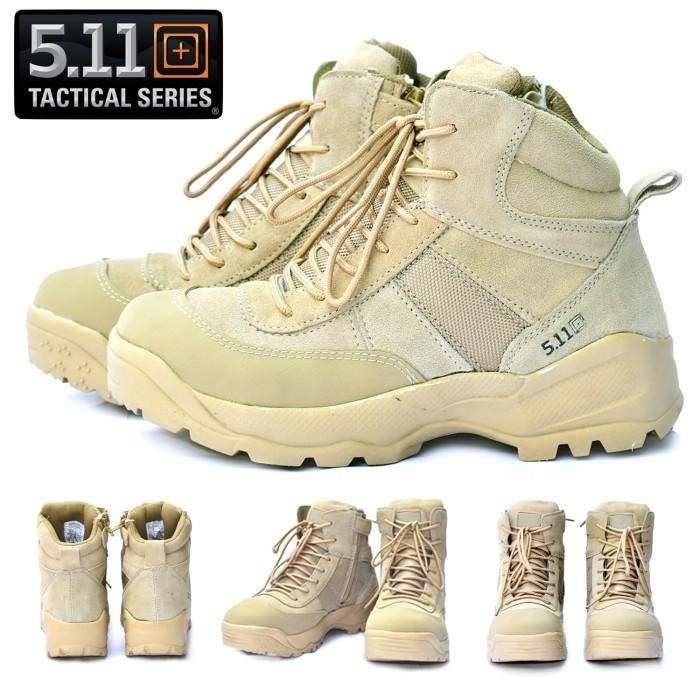 harga Sepatu 511 boots kulit 6 inch cokelat /sepatu pdl 5.11 tactical import Tokopedia.com