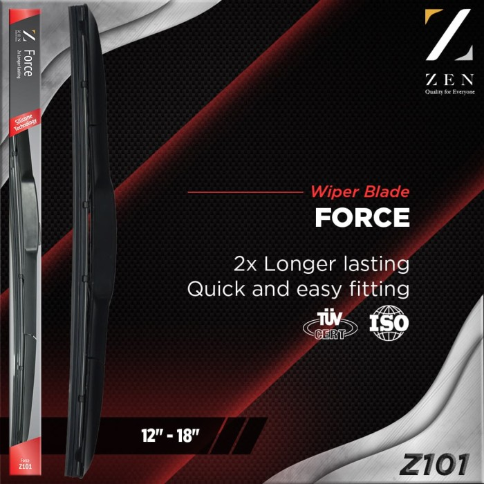 harga Zen force silicone hybrid wiper z101 14  full silikon wiper Tokopedia.com