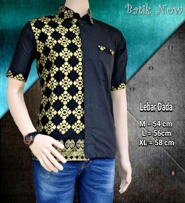 Model Baju Batik Pria Modern Kombinasi Model Batik 2019