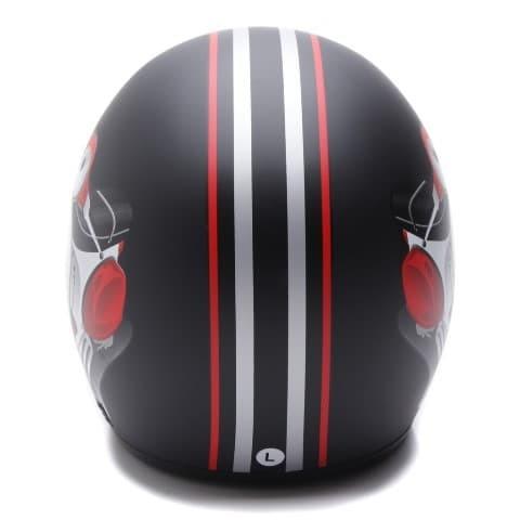 [COUPLE HELM DEWASA] WTO Helmet Retro Bogo - Vespa - Krem + Hitam Doff 4