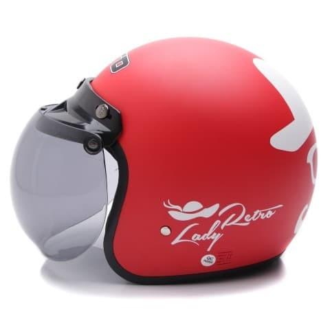 [COUPLE HELM DEWASA] WTO Helmet Retro Bogo - Gentleman - Hitam + Lady 2