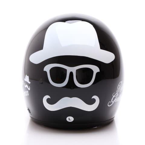 [COUPLE HELM DEWASA] WTO Helmet Retro Bogo - Gentleman - Hitam + Lady 3
