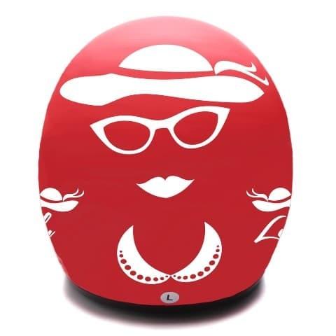 [COUPLE HELM DEWASA] WTO Helmet Retro Bogo - Gentleman - Hitam + Lady 4