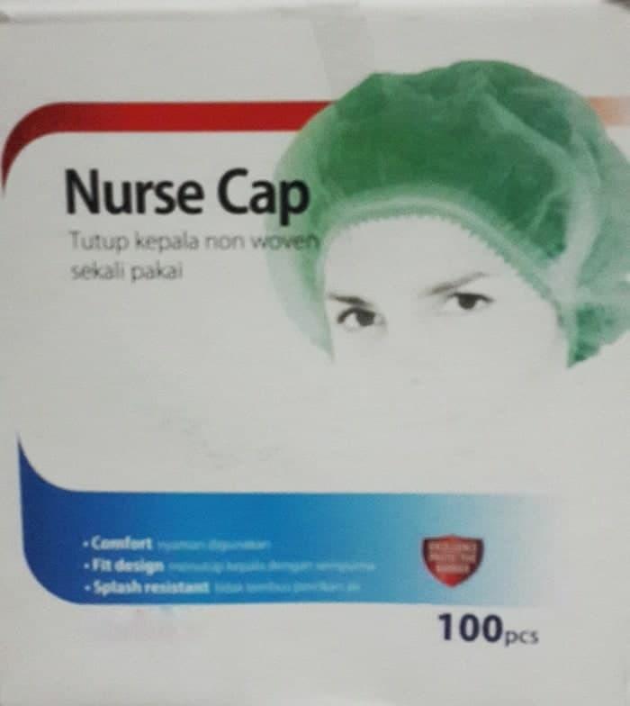 Penutup Kepala Nurse Cap Onemed Rambut Hair Net Perawat