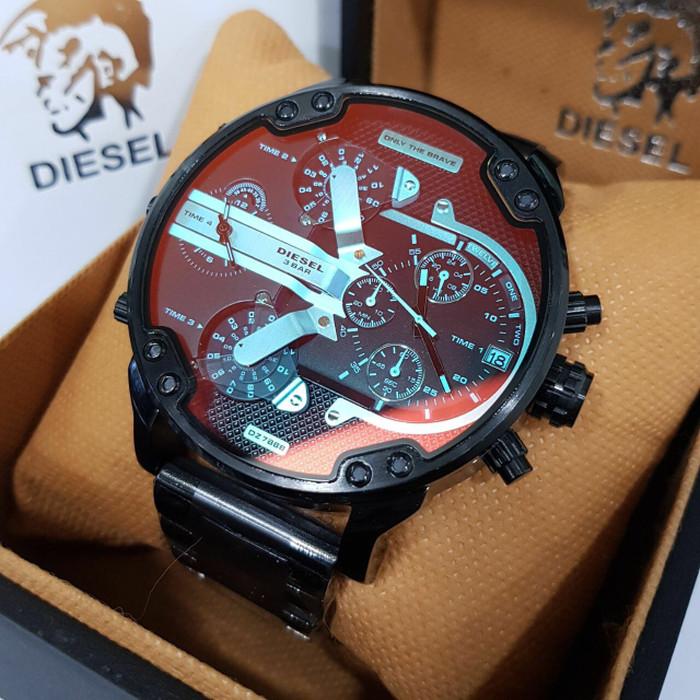 Jual Jam Tangan Pria Mewah Diesel Dz 7332 Dz7313 Dz 7333 Black ... ef113339f2
