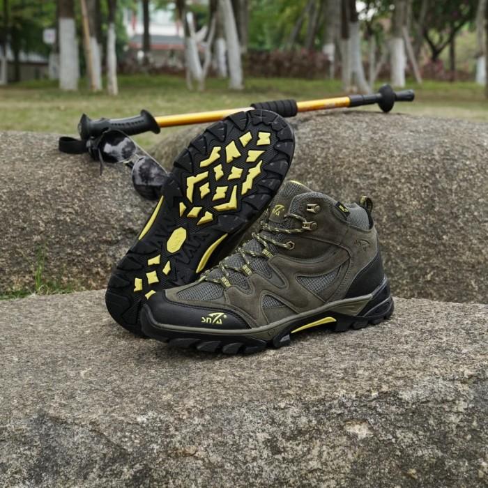 harga Baru!!! sepatu gunung snta 491 green yellow/trekking/hiking/adventure Tokopedia.com